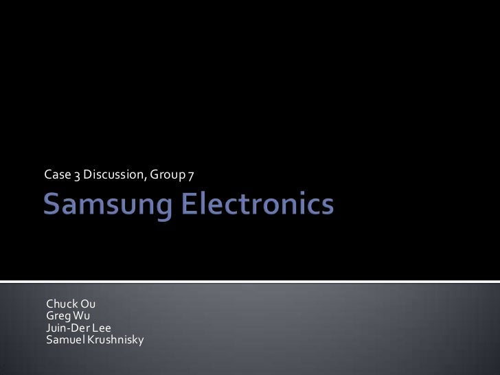 samsung electronics group 7 strategic management case study samuel kr…, Powerpoint templates