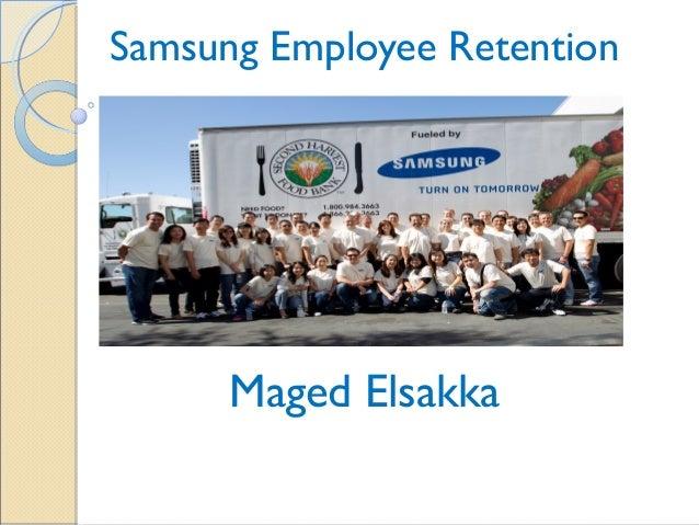 Samsung Employee Retention  Maged Elsakka
