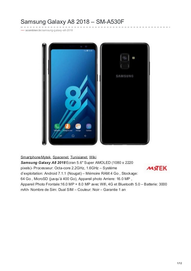 Samsung Galaxy A8 2018 Sm A530f