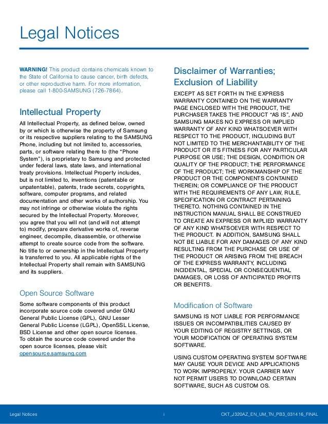 Samsung Galaxy Amp Prime Manual / User Guide Slide 2