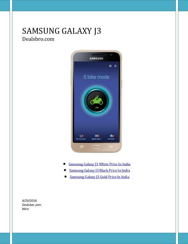 Samsung Galaxy J3 Price In India