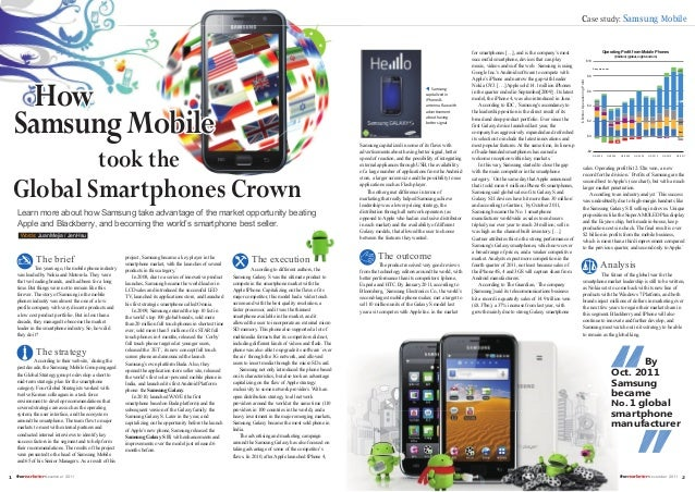 Samsung - Principles of marketing case study
