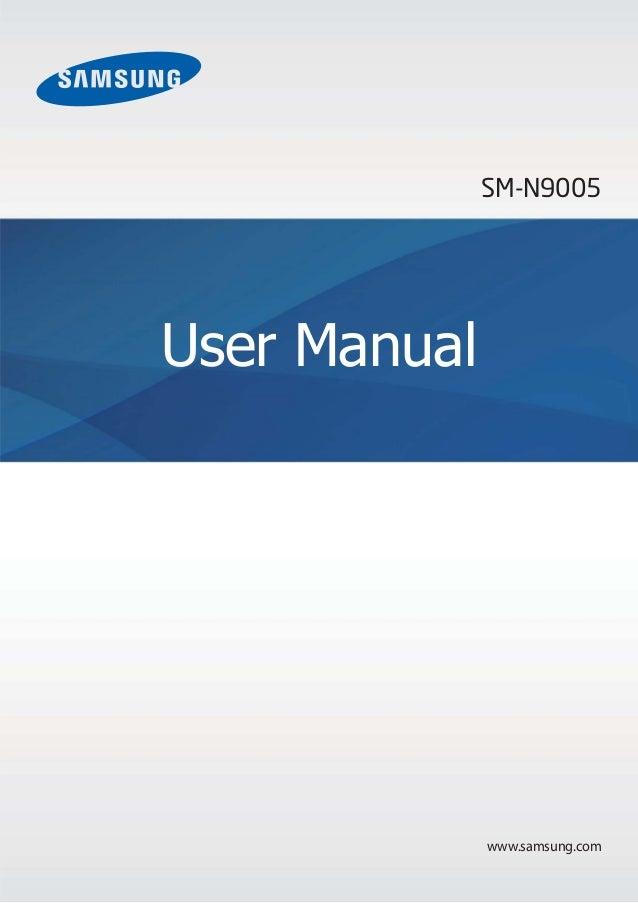 SM-N9005  User Manual  www.samsung.com