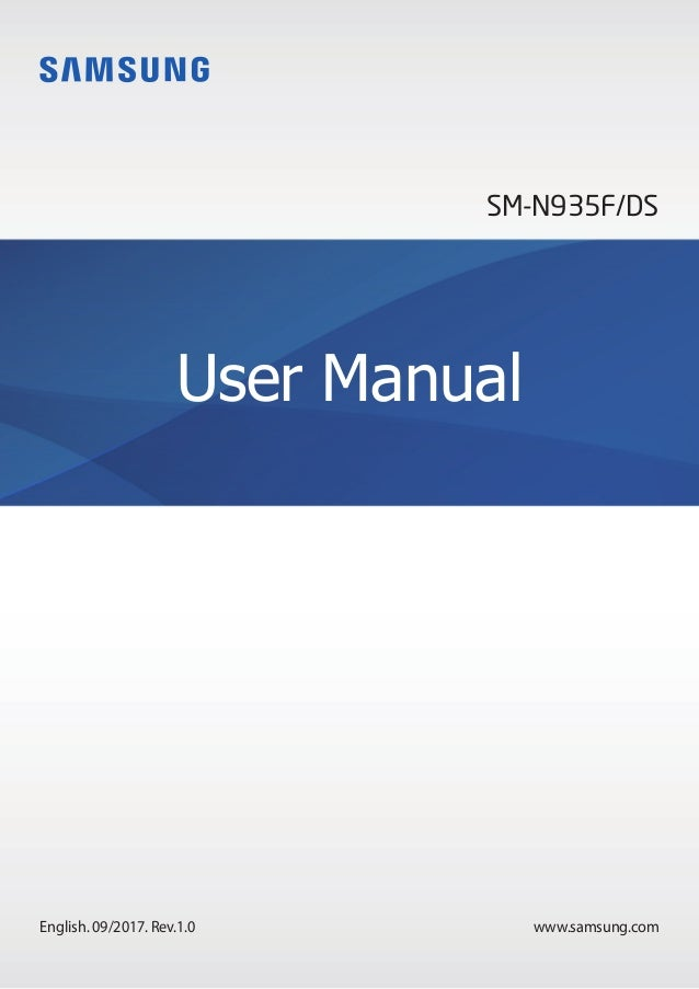 www.samsung.com User Manual English. 09/2017. Rev.1.0 SM-N935F/DS