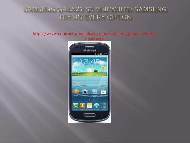 samsung galaxy s3 mini white contract deals
