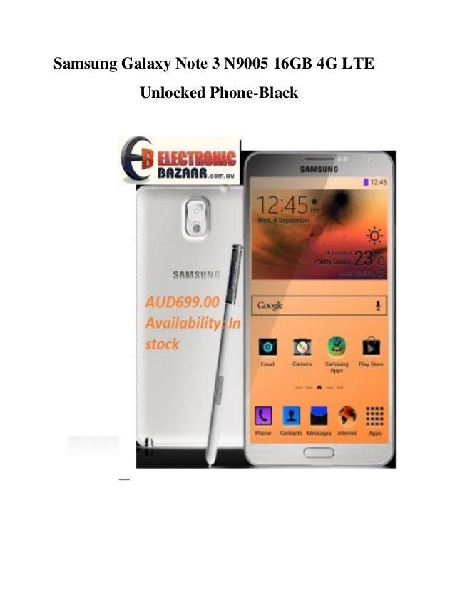 Samsung Galaxy Note 3 N9005 16GB 4G LTE Unlocked Phone-Black