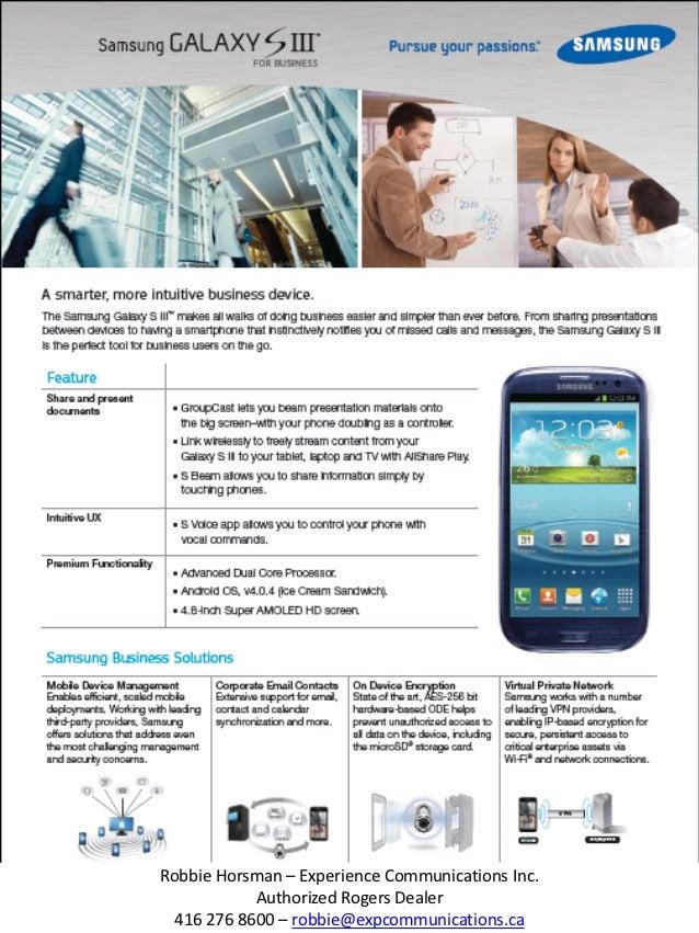Robbie Horsman – Experience Communications Inc.            Authorized Rogers Dealer  416 276 8600 – robbie@expcommunicatio...