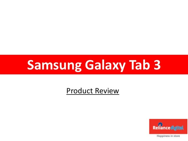 Product Review Samsung Galaxy Tab 3