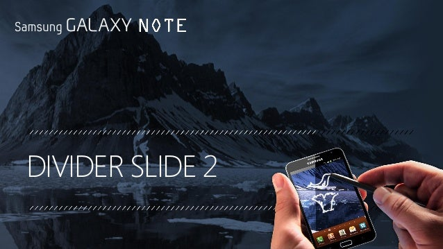 samsung galaxy ppt template