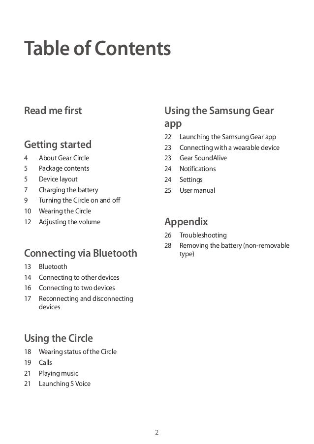 Samsung Gear Circle Sm R130 User Manual