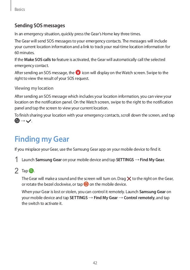 Samsung gear s3 user manual