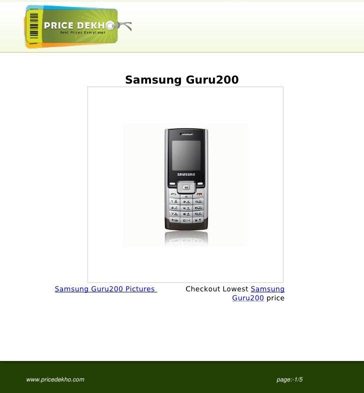 Samsung Guru200        Samsung Guru200 Pictures   Checkout Lowest Samsung                                              Gur...