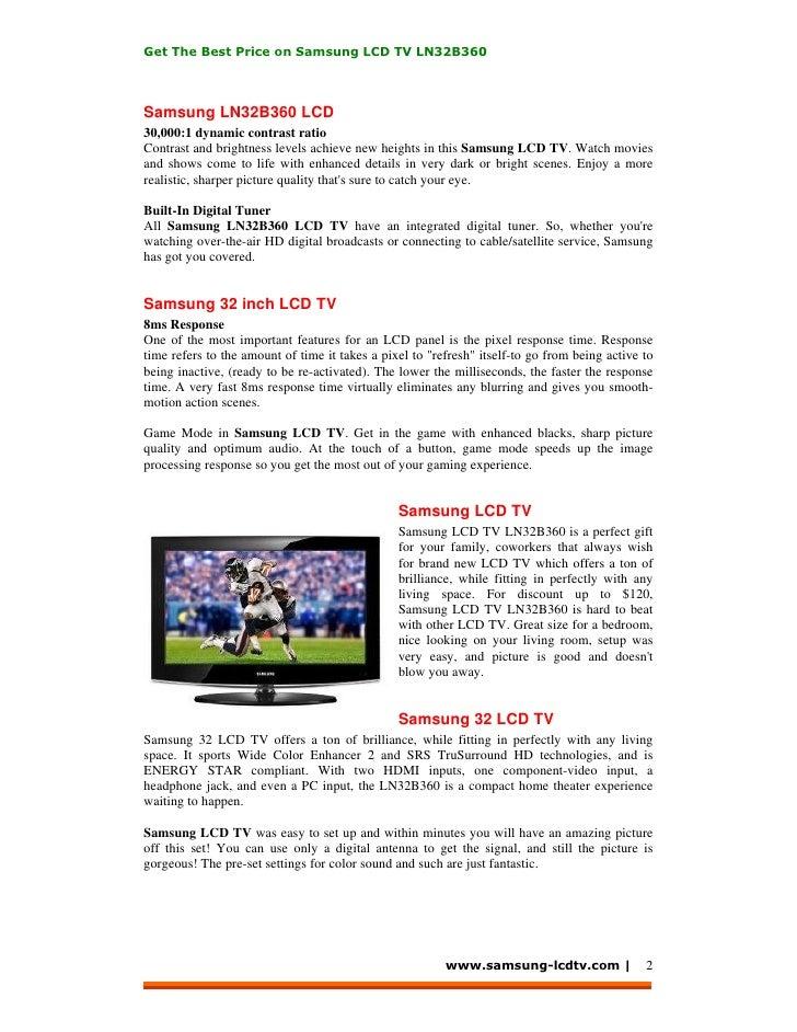Samsung LCD TV LN32B360