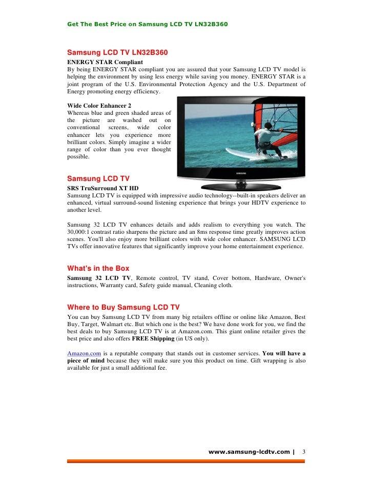 samsung ln32b360 manual ebook rh grodno online Samsung LCD TV LG LCD TV