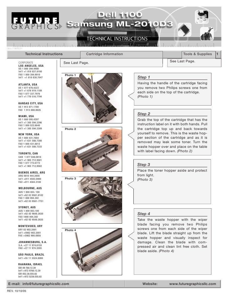 Manual de Recarga Samsung ML 2010   ML 1610   SCX 4521F   ML 2010D3