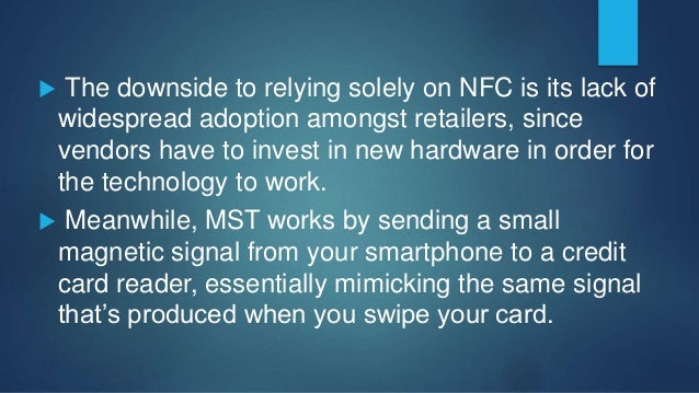 Samsung Pay's setup process is pretty standard as far as these types of services go:  Users only need to scan the card o...