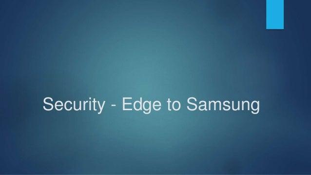 Compatibilty – Edge to Apple