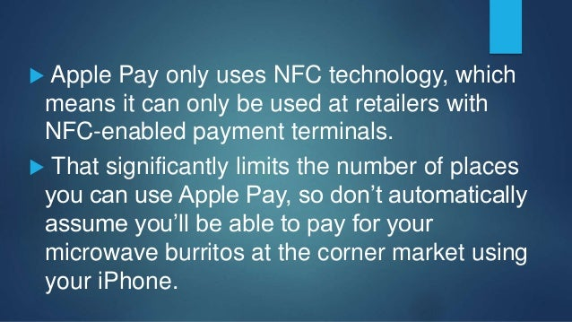 References  August 13, 2015. Amanda Schupak. CBSNews.com. Samsung Pay vs. Apple Pay: How they compare. http://www.cbsnews...