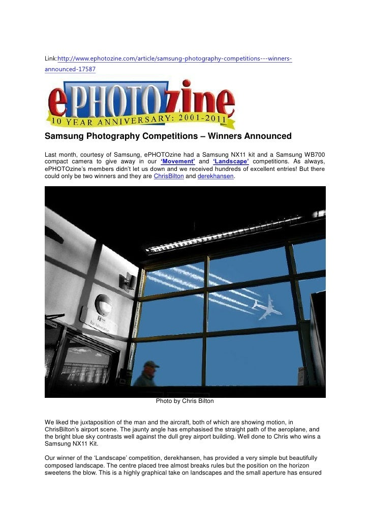 Link:http://www.ephotozine.com/article/samsung-photography-competitions---winners-announced-17587Samsung Photography Compe...