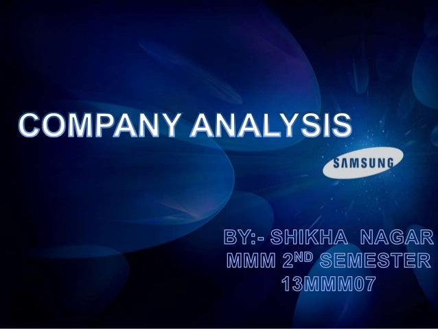 company analysis of samsung ppt, Powerpoint templates