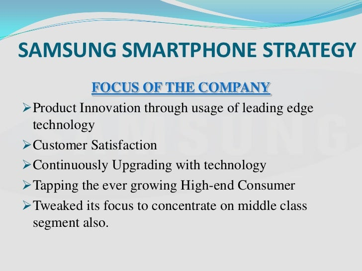 Understanding samsung's diversification strategy