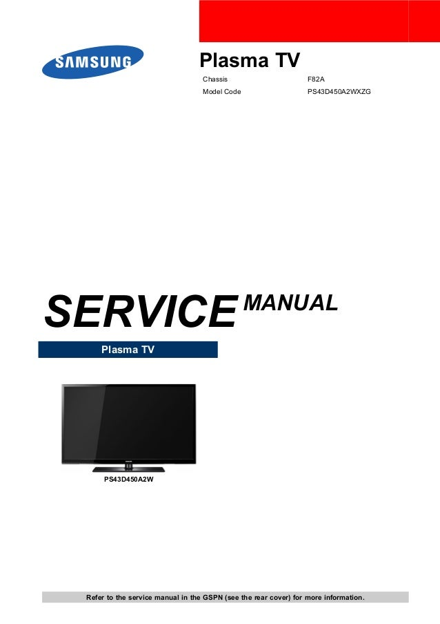 samsung ps43d450a2wxzg chassis f82a sm rh slideshare net Samsung Owner's Manual Samsung Washer Parts Manual