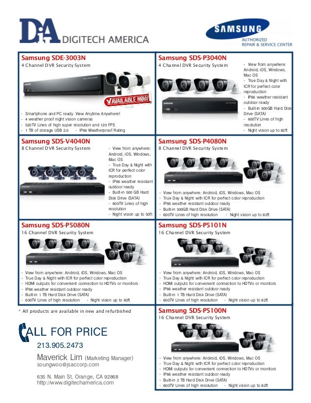 Samsung Refurbish Cctv Dvr Security All In One Package System