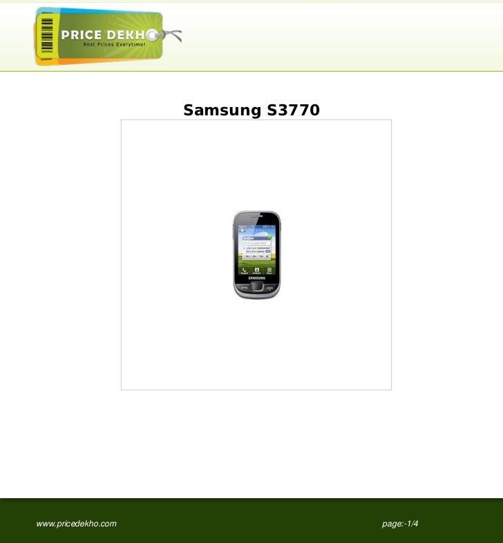Samsung S3770www.pricedekho.com                   page:-1/4