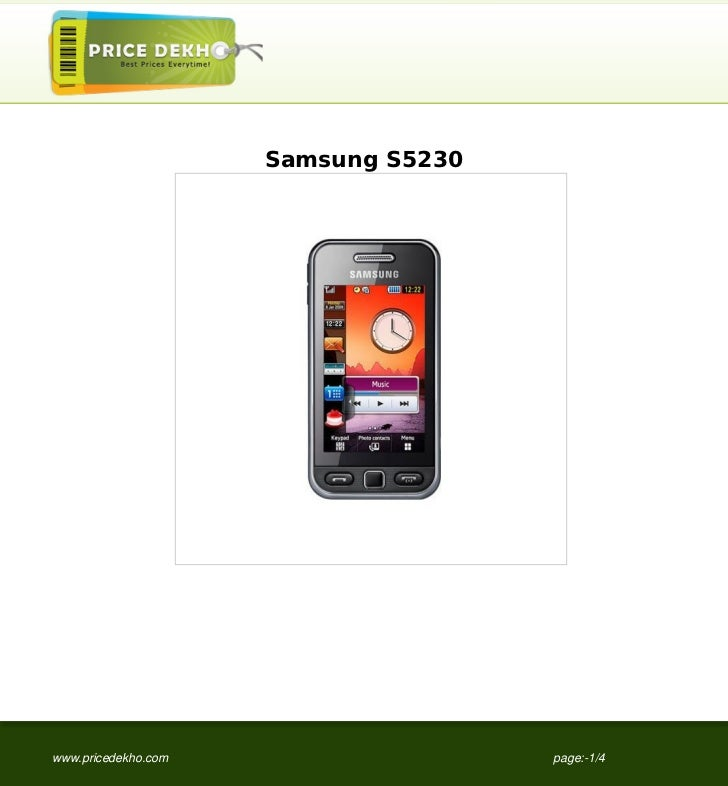 Samsung S5230www.pricedekho.com                   page:-1/4
