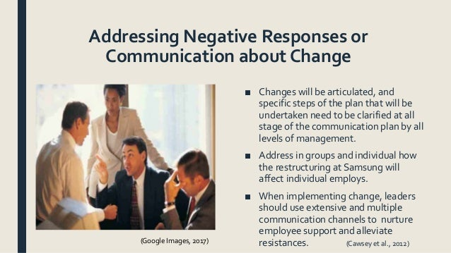 samsung organizational change Learn why implementing a research-based change management strategy for project initiatives drives results.