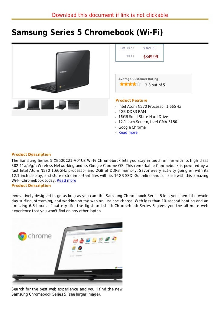 Download this document if link is not clickableSamsung Series 5 Chromebook (Wi-Fi)                                        ...