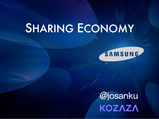 SHARING ECONOMY @josanku
