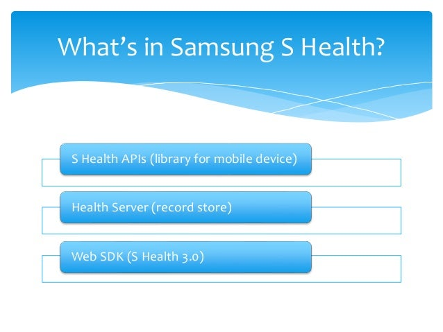 Samsung S Health Service SDK