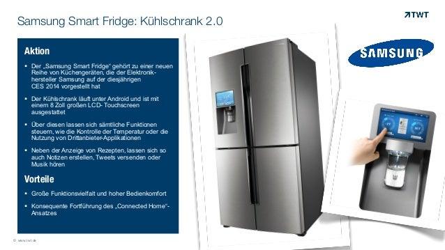 "Samsung Smart Fridge: Kühlschrank 2.0 Aktion ! Der ""Samsung Smart Fridge"" gehört zu einer neuen Reihe von Küchengeräten, d..."