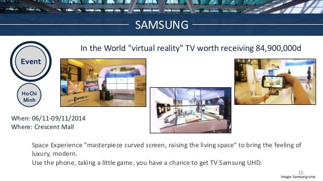 """Event Ho Chi Minh In the World """"virtual reality"""" TV worth receiving 84,900,000d When: 06/11-09/11/2014 Where: Crescent Mal..."""