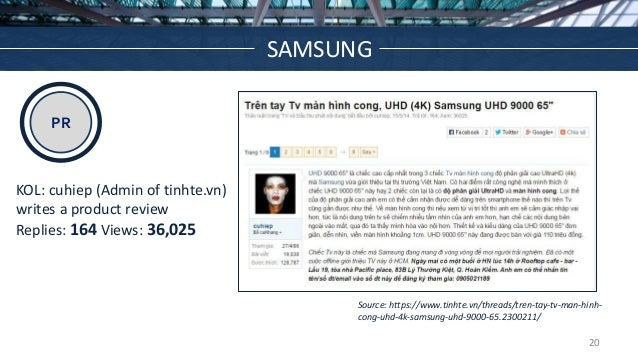 PR Source: https://www.tinhte.vn/threads/tren-tay-tv-man-hinh- cong-uhd-4k-samsung-uhd-9000-65.2300211/ KOL: cuhiep (Admin...