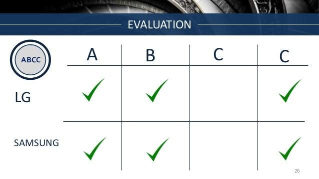 EVALUATION ABCC A B C C LG SAMSUNG 26
