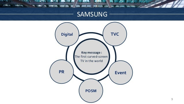 SAMSUNG TVC Event Digital PR Key message : The first curved-screen TV in the world POSM 9