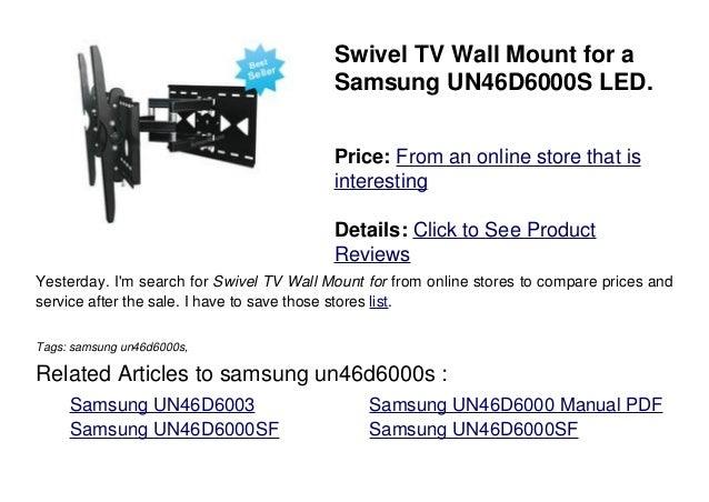 samsung un46d6000s rh slideshare net samsung un46d6000 manual pdf Samsung UN46D6000SF