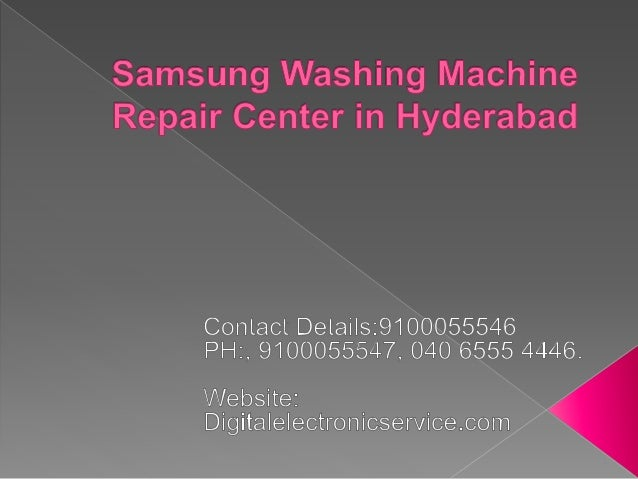 Samsung washing machine Repair Center in Hyderabad are very popular and people prefer SAMSUNG company washing machines. Sa...