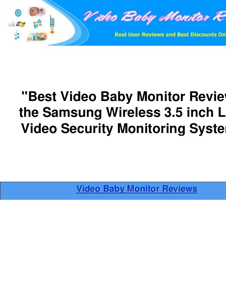 samsung wireless 3 5 inch lcd video security monitoring system as bes. Black Bedroom Furniture Sets. Home Design Ideas