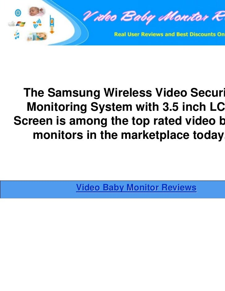 Samsung wireless 3.5 inch lcd video security monitoring ...