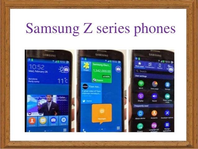 Samsung Z series phones
