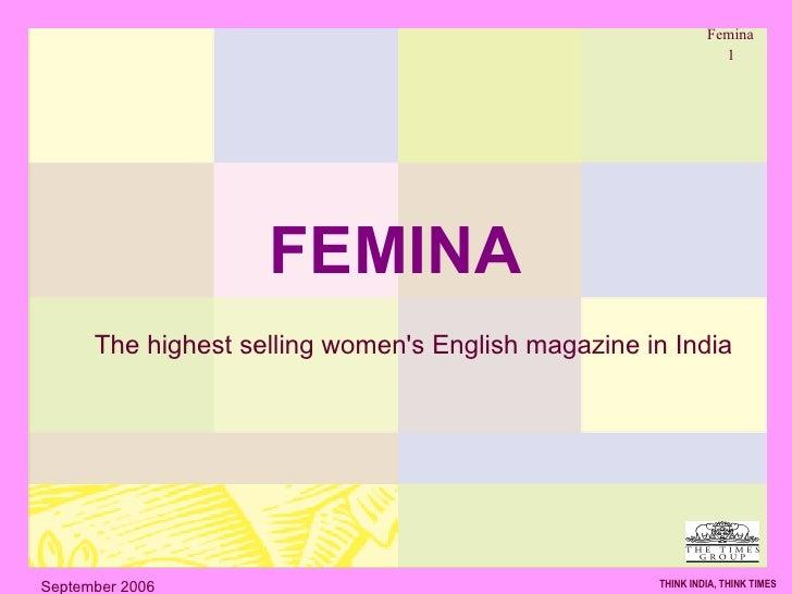 FEMINA The highest selling women's English magazine in India