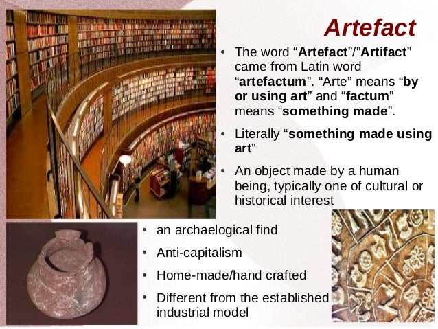 the term cultural artifact means