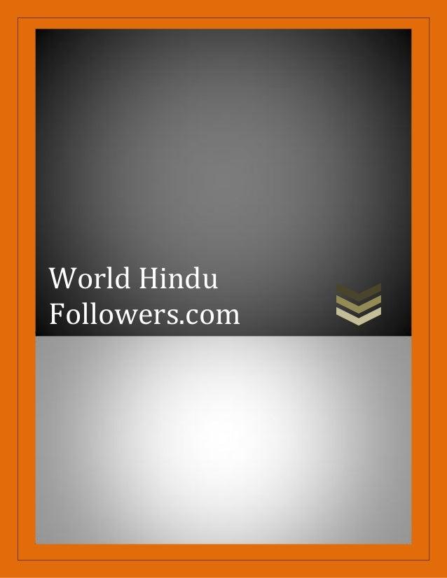 World Hindu Followers.com