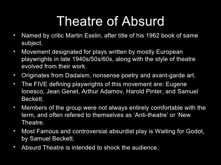 An Essay On Theatre Of The Absurd Definition - image 6