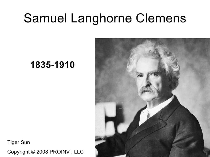 account of the life of samuel langhorne clemens Samuel clemens in buffalo: a woman and an artist preface while literary critics and historians alike have thoroughly examined the influence of samuel langhorne clemens' missouri boyhood and foreign travels on his writing, scholars outside of western new york consistently overlook the importance of the eighteen months he spent in buffalo.