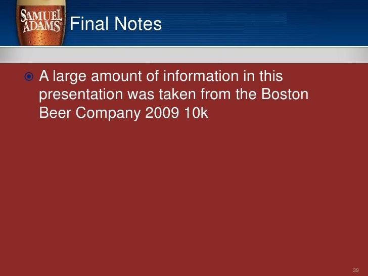 Boston Beer Company SWOT Analysis Essay - Part 2