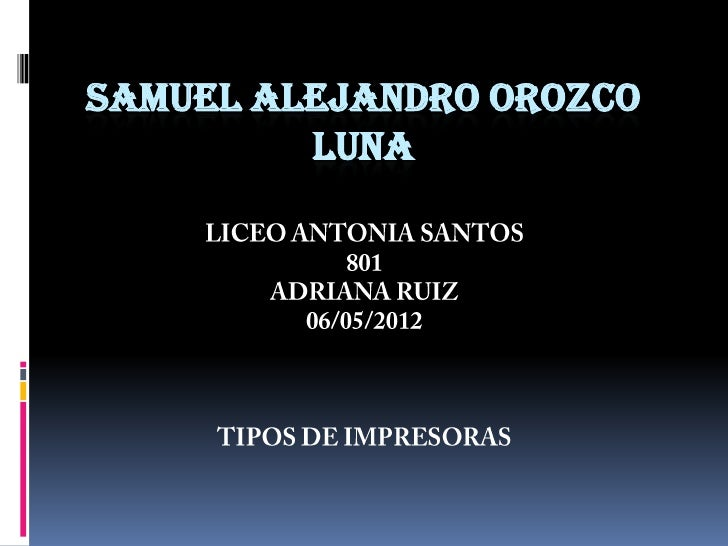 SAMUEL ALEJANDRO OROZCO         LUNA